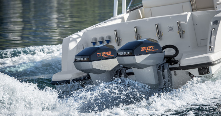 Torqeedo Deep Blue twin electric outboard